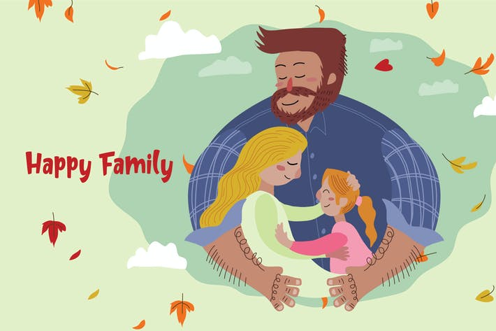 Thumbnail for Happy Family - Vector Illustration