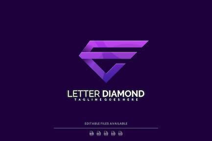 Letter Diamond Gradient Logo