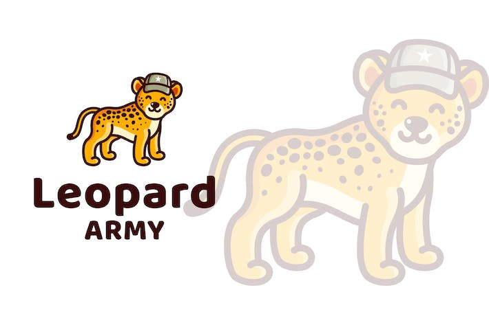 Thumbnail for Leopard Army Kids Cute Logo Template
