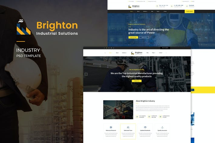 Thumbnail for Brighton : Industry PSD Template