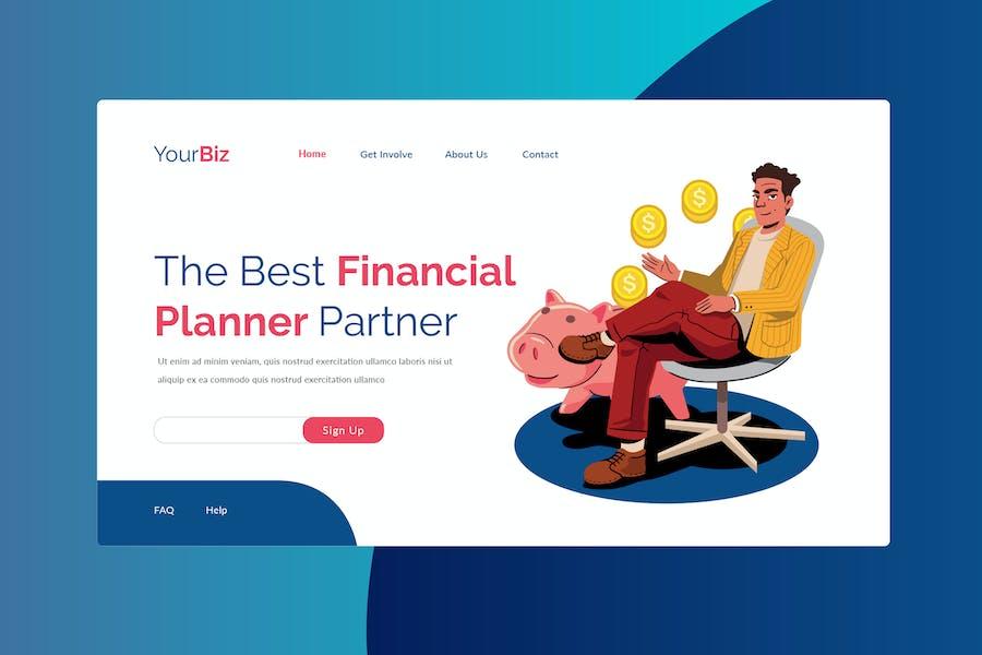 Financial Plan Landing Page