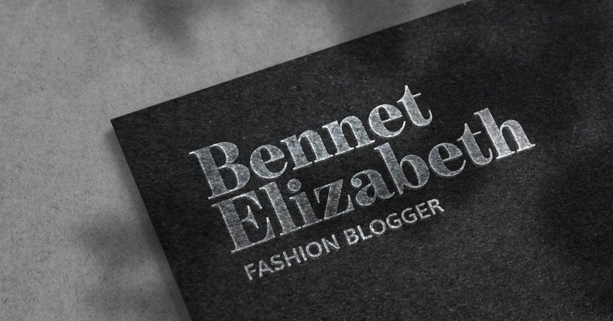 Download Luxury Silver Logo Mockup on Black Paper Texture by deeplabstudio