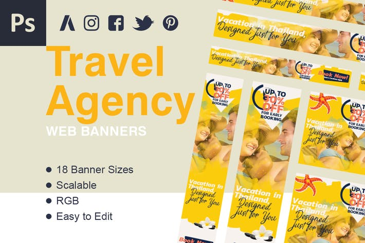 Thumbnail for Travel Web Banner Ads