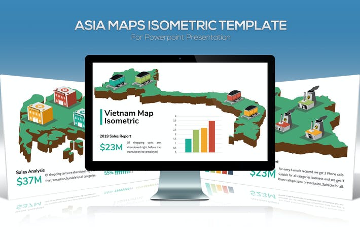 Thumbnail for Asia Maps Isometric & Legends For Keynote