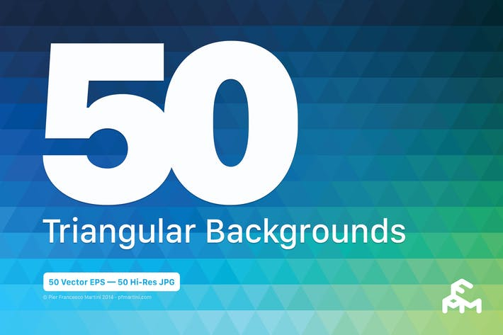 Thumbnail for 50 Triangular Backgrounds