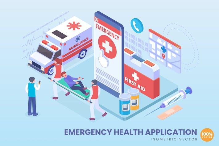 Thumbnail for Concept d'application de santé d'urgence isométrique