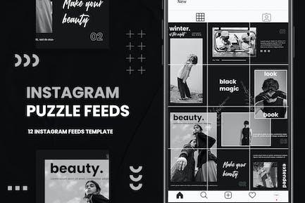 Instagram Puzzle - Fashion B&W