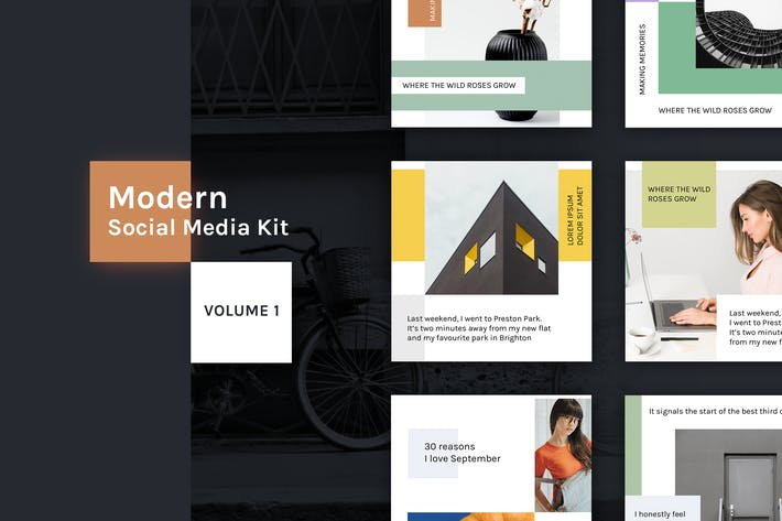 Thumbnail for Modern Social Media Kit (Vol. 1)