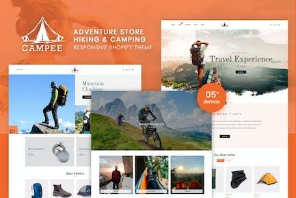 Campee - Магазин Пешие прогулки и Кемпинг Shopify Тема