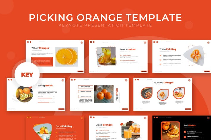 Выбор оранжевого цвета - шаблон Keynote
