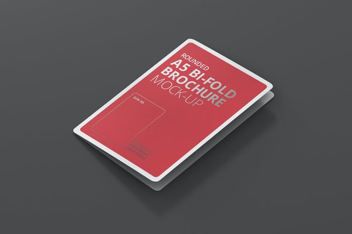 Thumbnail for A5 Bi-Fold Brochure Mock-Up - Round Corner