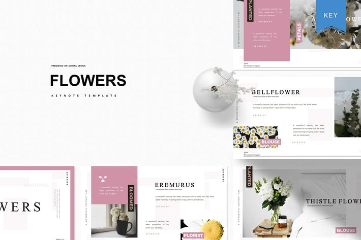 Cover Image For Flowers | Keynote Template