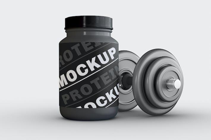 Proteinpulver-Behälter-Mockup
