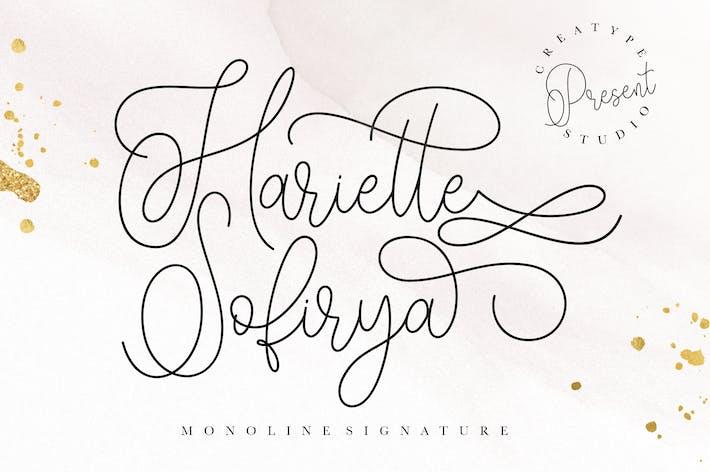 Thumbnail for Hariette Sofirya Monoline Signature