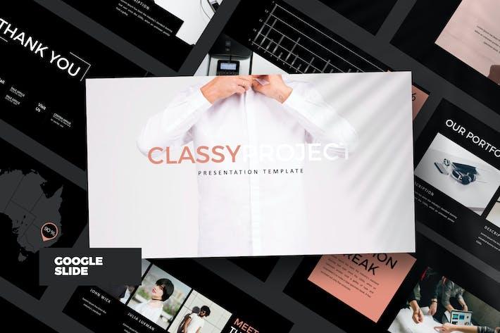 Thumbnail for Classy Minimal Google Slide DARK Business Corporat