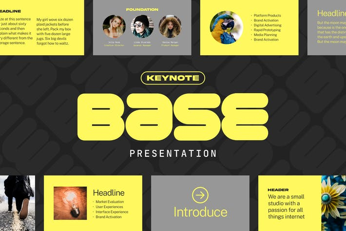 Thumbnail for База — Шаблон презентации Keynote