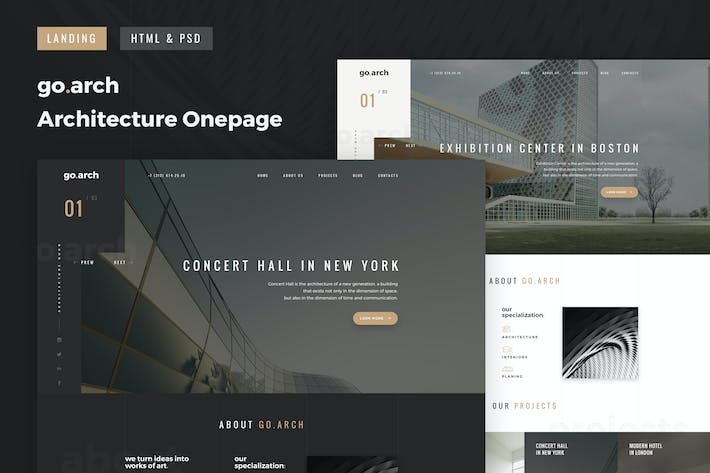 Thumbnail for go.arch - OnePage Architecture & Interior Template