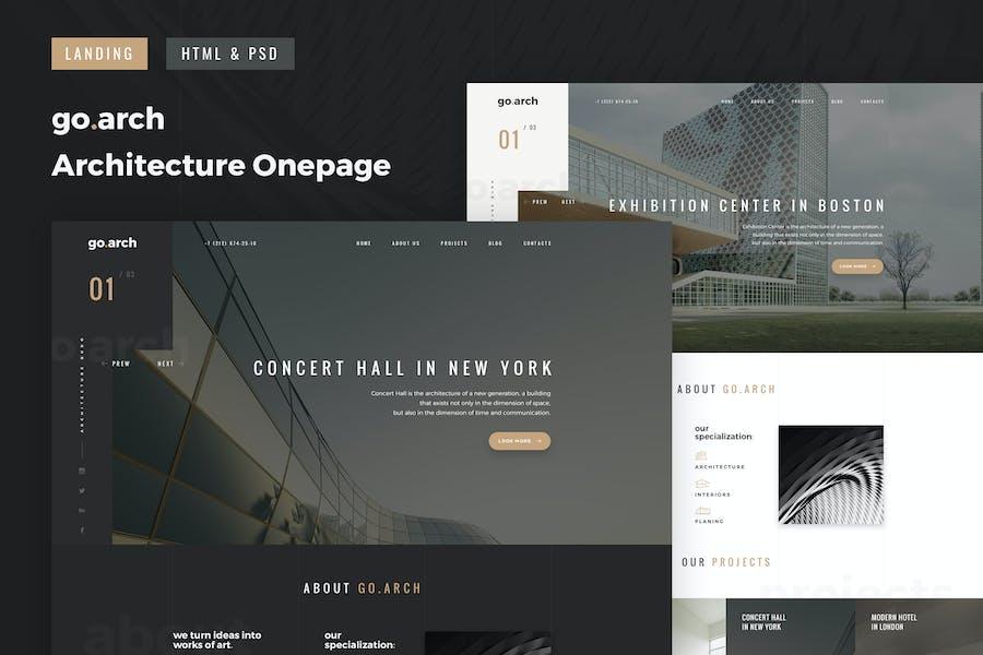 go.arch - OnePage Architecture & Interior Template