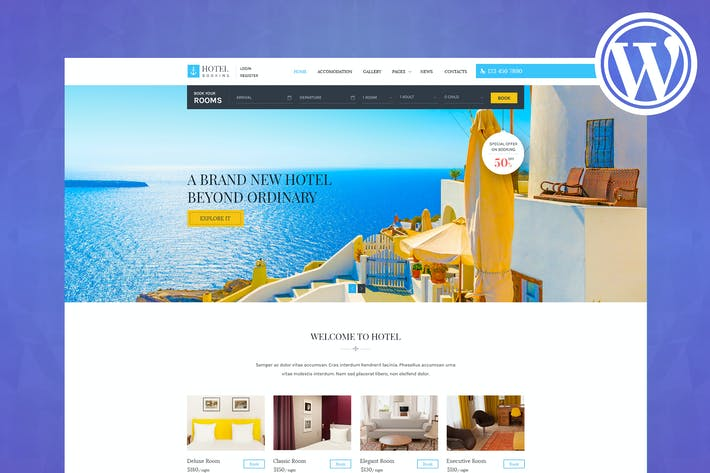 Thumbnail for Hotel Booking - Wordpress Theme for Hotels
