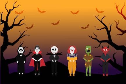 Хэллоуин - Набор иллюстраций