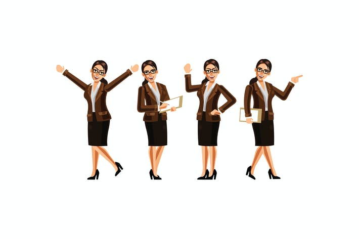 Thumbnail for Secretary Character Set Graphics Vector Illustrati