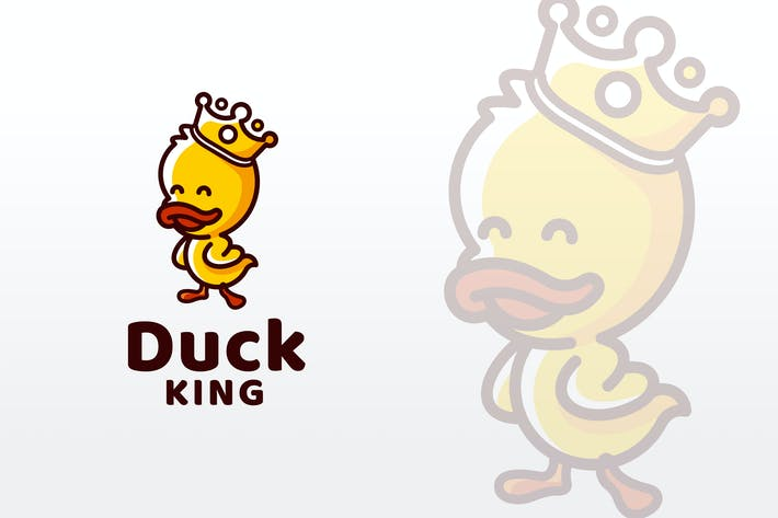 Thumbnail for Duck King Logo Template