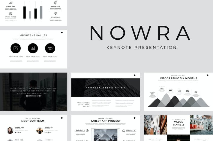 Thumbnail for Nowra Minimal Keynote TEmplate