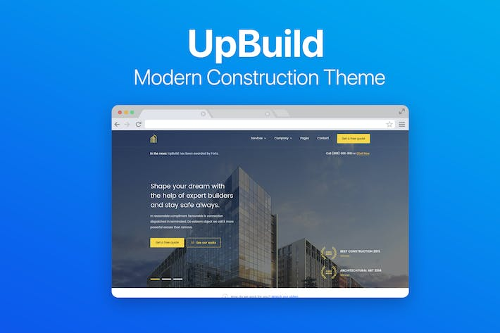 Cover Image For UpBuild - Modern Construction Theme
