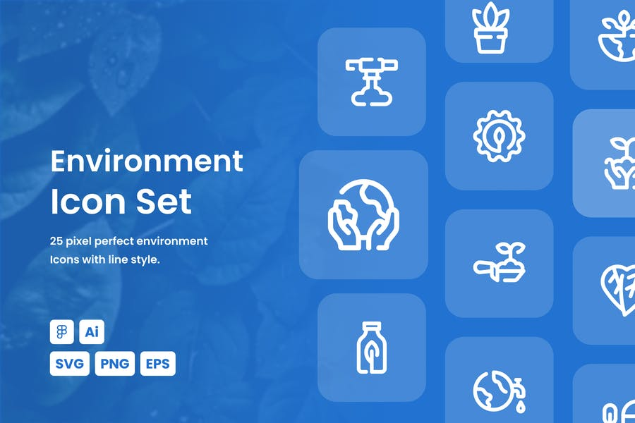Environment Dashed Line Icon Set