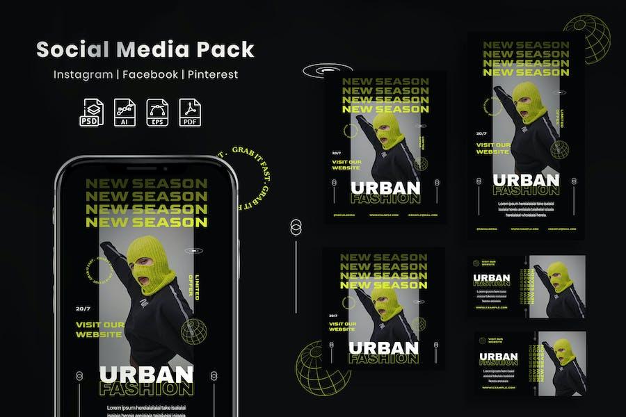 Urban Fashion - Social Media Pack