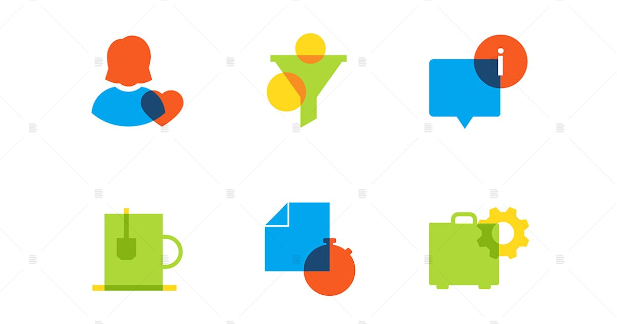 Download Business and finance - flat design style icons set by BoykoPictures