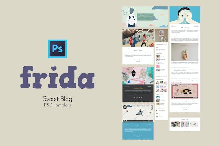 Thumbnail for Frida - Sweet Blog PSD Template