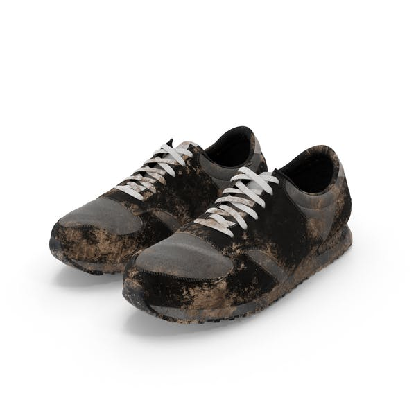 Muddy Running Shoes