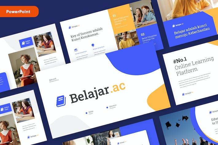 Thumbnail for BELAJAR - Образования Powerpoint Шаблон