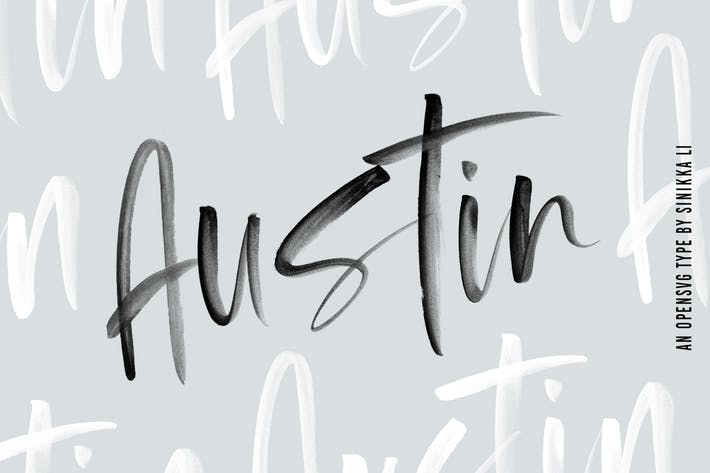Thumbnail for Austin |SVG Brush Font