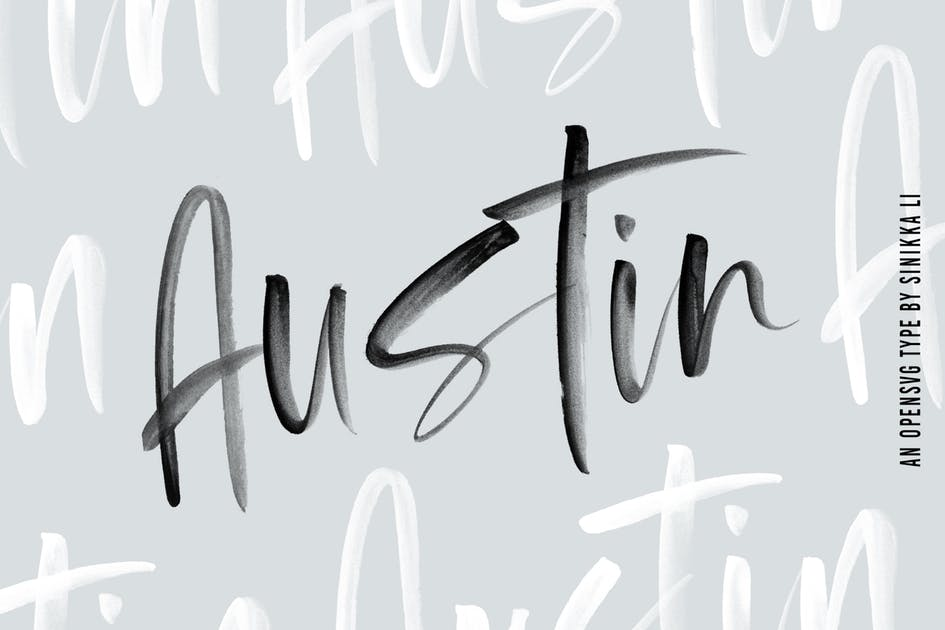Download Austin |SVG Brush Font by SinikkaLi