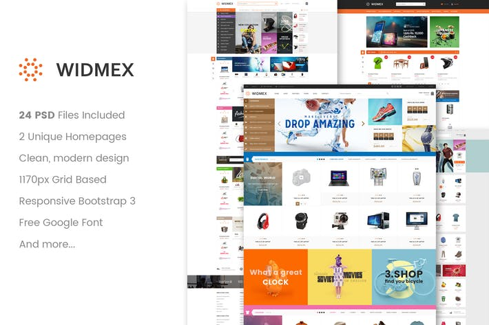 Thumbnail for WidMex - Multipurpose eCommerce PSD Template