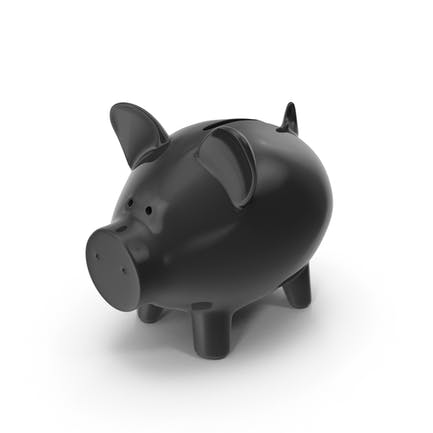 Piggy Bank Black