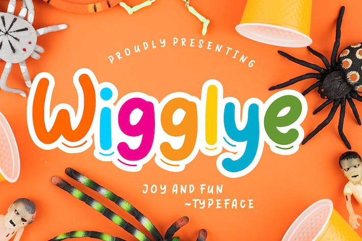 Thumbnail for Wigglye Joy & Fun Typeface