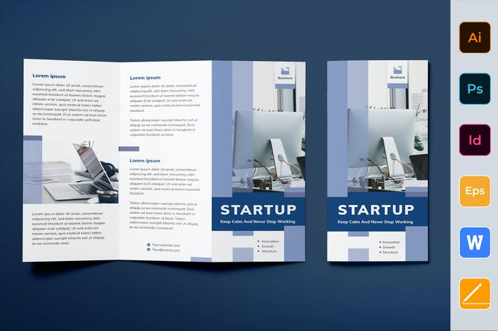 Thumbnail for Startup Brochure Trifold