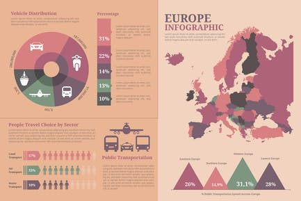 Europe Map - Geographic infographic templates