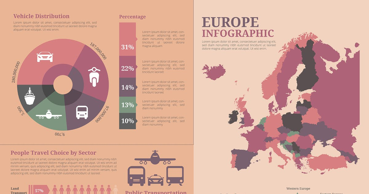 Download Europe Map - Geographic infographic templates by SlideFactory