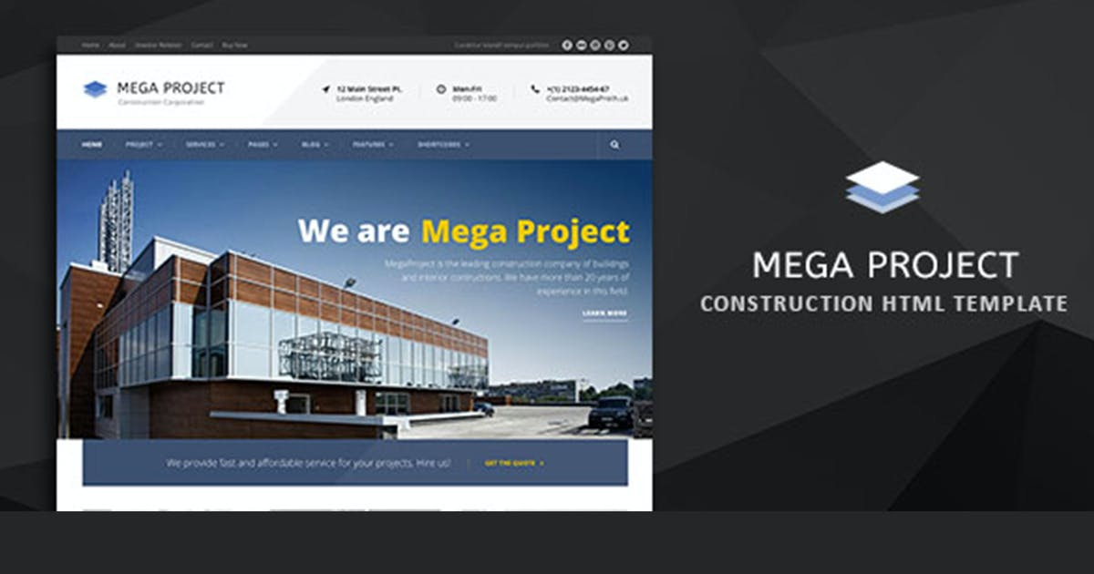 Download Mega Project - Construction HTML Template by max-themes