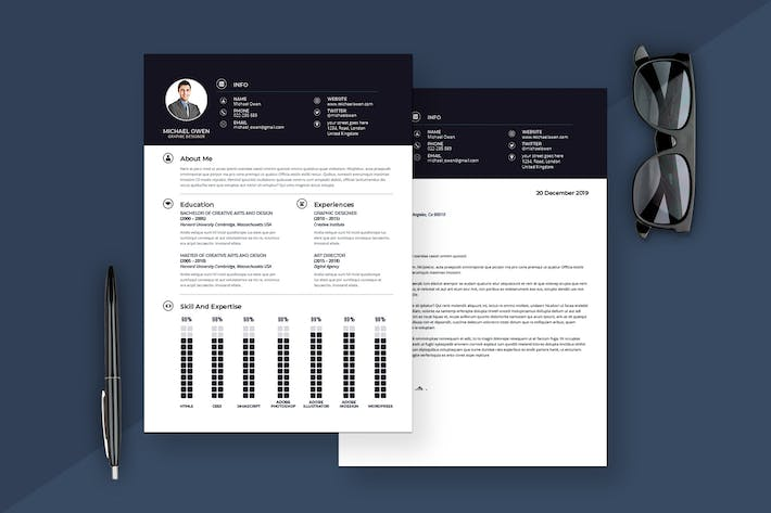 Thumbnail for Modern Resume & Cover Letter Template