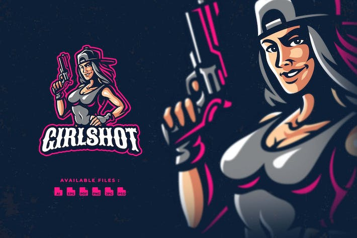 Thumbnail for Girl Shooter Esport Logo