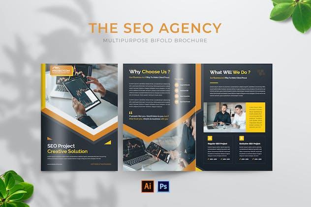 Seo Agency Bifold Brochure
