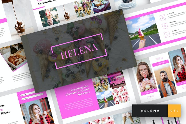 Thumbnail for Helena - Ice Cream Google Slides Template