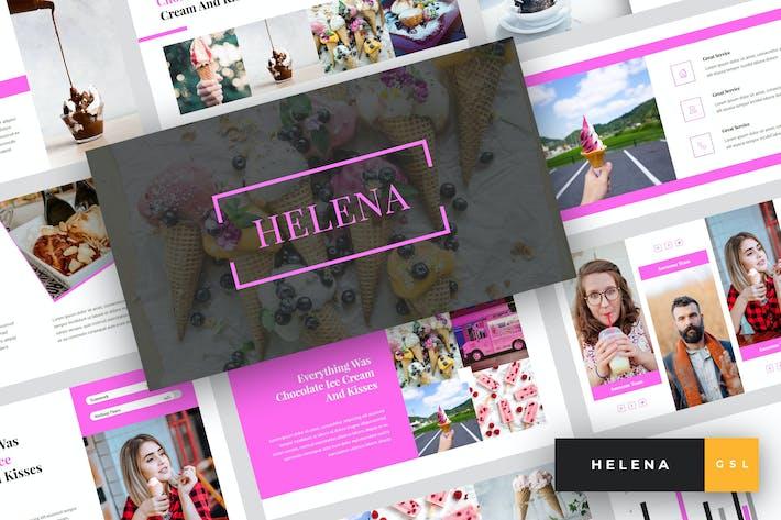 Thumbnail for Елена - Мороженое Google слайды Шаблон