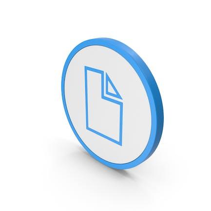 Icon Electronic File Blue