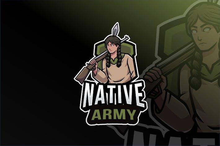 Native Army Logo Template